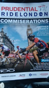 The RideLondon 2016 Commiserations magazine